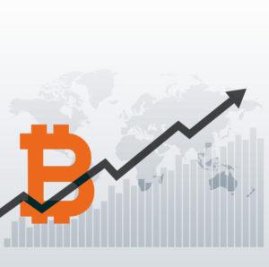 bitcoin chart illustration